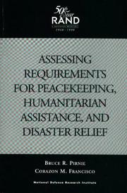 Assessing requirements for peacekeeping, humanitarian assistance, and disaster relief PDF