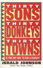 Thirty Sons Thirty Donkeys Thirty Towns Is This Any Way to Run a Church? PDF