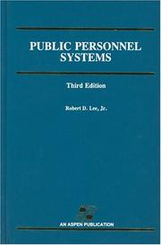 Public personnel systems by Lee, Robert D.