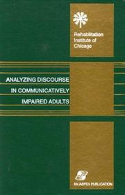 Analyzing discourse in communicatively impaired adults PDF