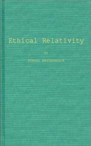 Ethical relativity by Edward Westermarck