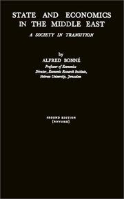 State and economics in the Middle East by Alfred Bonne