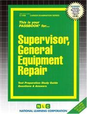 Supervisor, General Equipment Repair PDF