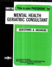Mental Health Geriatric Consultant PDF