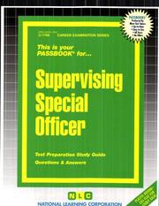 Supervising Special Officer PDF