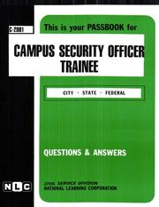 Campus Security Officer Trainee PDF