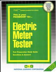 Electric Meter Tester (The Passbook Series. Passbooks for Career Opportunities ; C-2249) PDF