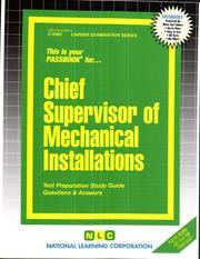 Chief Supervisor of Mechanical Installations PDF