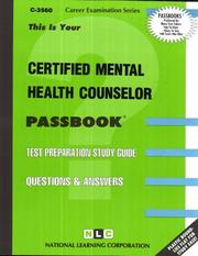 Certified Mental Health Counselor PDF