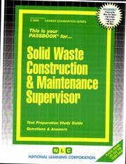 Solid Waste Construction & Maintenance Supervisor PDF