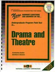 Drama and Theatre (Undergraduate Program Field Test, Upft-5)