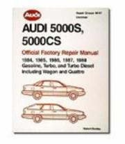 Audi 5000s 5000Cs Official Factory Repair Manual by Ross Cox