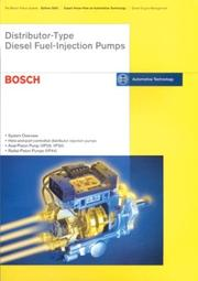 Distributor Type Diesel Fuel Injection Pumps PDF