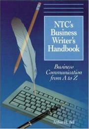 Ntcs Business Writers Handbook by Arthur H. Bell