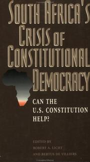 South Africa's Crisis of Constitutional Democracy PDF