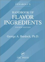 Handbook of flavor ingredients by Fenaroli, Giovanni Prof. Dr.