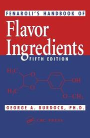 Fenaroli's handbook of flavor ingredients by George A. Burdock