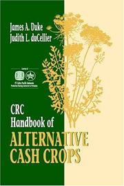 CRC handbook of alternative cash crops by James A. Duke