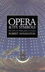 Opera and its symbols by Robert Donington
