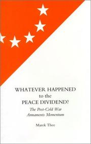 Whatever happened to the peace dividend? PDF