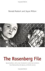 The Rosenberg file by Ronald Radosh