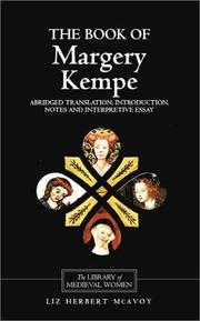 Cover of: The book of Margery Kempe by Margery Kempe