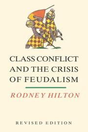 Class conflict and the crisis of feudalism PDF