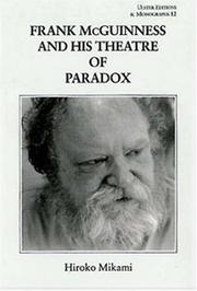 Frank McGuinness and his theatre of paradox by Hiroko Mikami