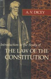 Introduction to the study of the law of the constitution PDF
