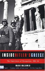 Inside Hitler&#39;s Greece by Mark Mazower
