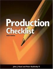 Production checklist for builders and superintendents by John J. Haasl