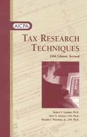 Tax research techniques by Gardner, Robert L.