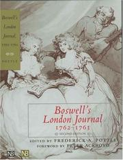 Boswell's London journal, 1762-1763 by James Boswell