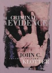 Criminal evidence by John C. Klotter