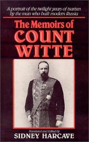 The memoirs of Count Witte by Vitte, S. IU. graf