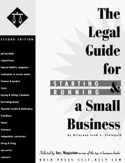 Legal guide for starting &amp; running a small business by Fred Steingold