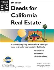 Deeds for California real estate by Randolph, Mary.