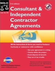 Consultant & independent contractor agreements by Stephen Fishman
