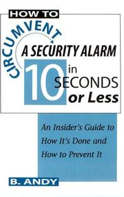 How to circumvent a security alarm in 10 seconds or less PDF