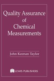 Quality assurance of chemical measurements by John K. Taylor