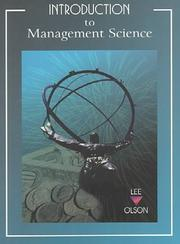 Introduction to Management Science by David L. Olson