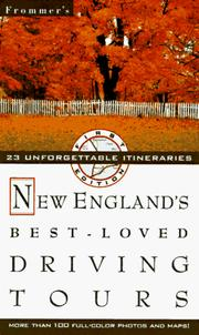 Cover of: Frommer's New England's Best-Loved Driving Tours by Automobile Association (Great Britain)