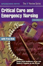 Critical care and emergency nursing by Sandra Smith Huddleston