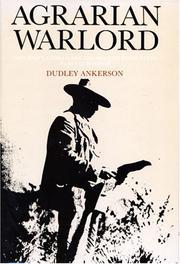Agrarian Warlord by Dudley Ankerson