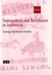 Nationalism and revolution in Indonesia PDF