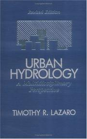 Urban hydrology by Timothy R. Lazaro