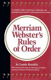 Merriam-Webster's rules of order PDF