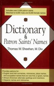 Dictionary of patron saints' names PDF