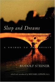 Sleep and Dreams by Rudolf Steiner