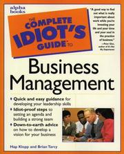 Cover of: The complete idiots guide to business management by Hap Klopp